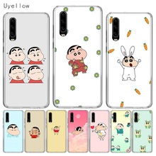 Uyellow Silicone Phone Case For Huawei P10 P20 P30 Lite Pro Hawei Mate 10 20 lite P Smart 2019 Cute Crayon Shin chan Cover