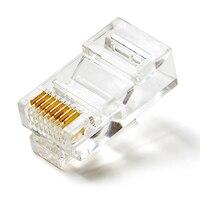 100 pçs de alta qualidade rj45 rede cristal banhado a ouro cabeça adaptador qjy99|adapter rj45|network rj45|rj45 l -