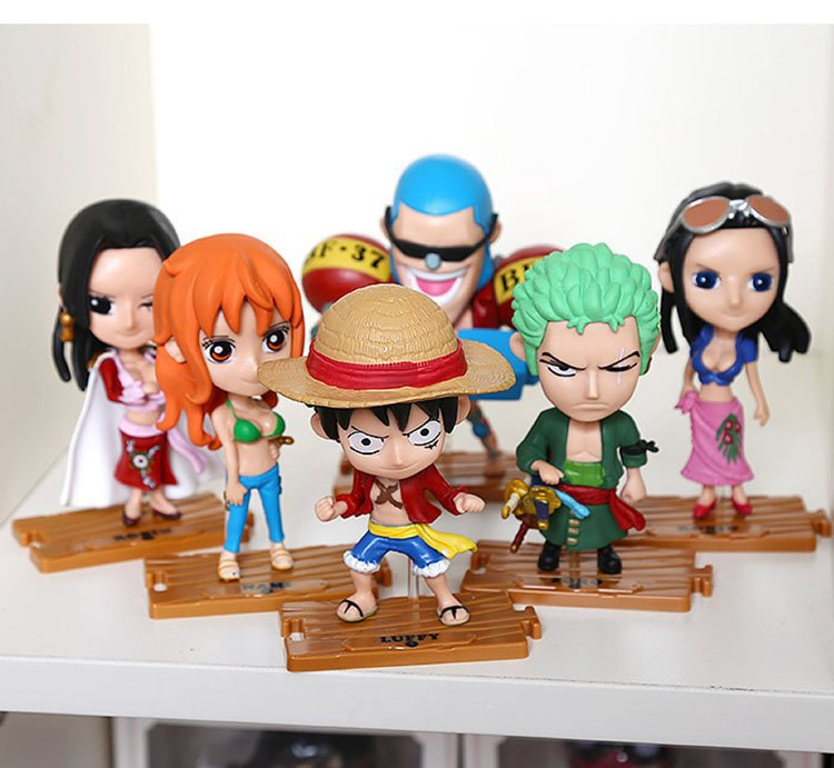 10pcs/set 2020 Free Shipping Japanese Anime Model One Piece Action Figure Collection  Luffy  Nami Dolls Toy For Children