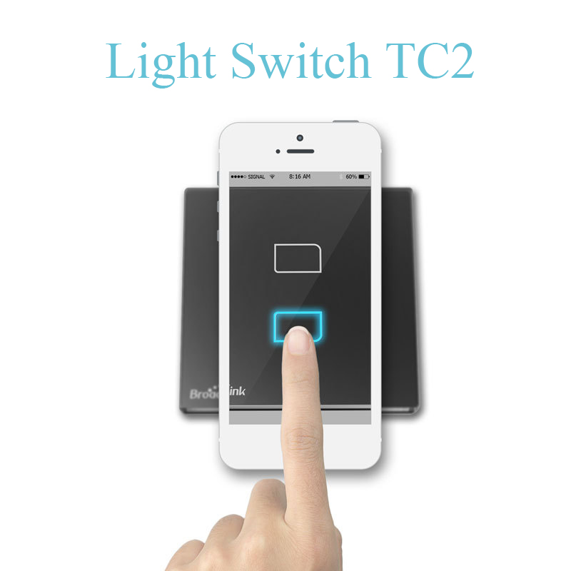 UK Standard Broadlink TC2 Wireless 2 Gang Remote Control Wifi Wall ...