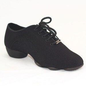 Image 2 - BD танцевальная обувь для мужчин и женщин, современные туфли для латиноамериканских танцев, с трехсекционной подошвой