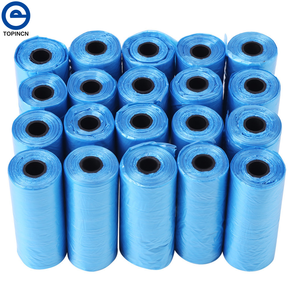 20 Rolls Degradable Pet Dog Waste Poop Bag For Pets Cat Waste Pick Up Clean Poop Bag Cleaning Products