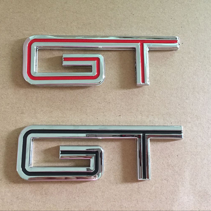 3D Metal GT Rear Trunk Emblem Side Fender Badge Decal Sticker for Ford Mustang Car Logo Styling Accessory