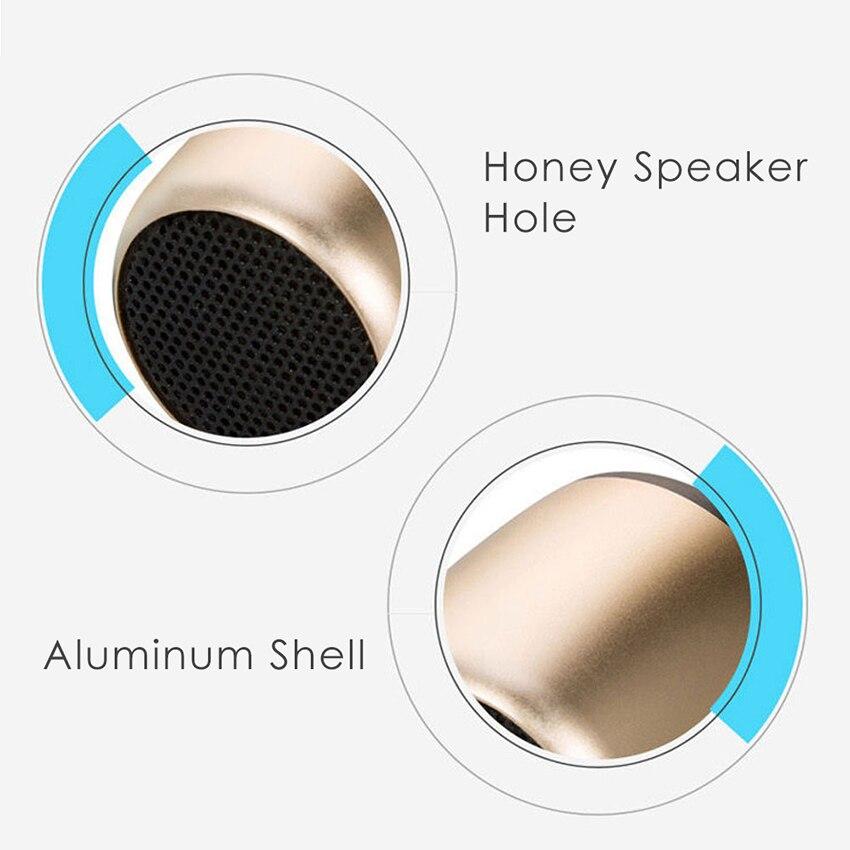 Aimitek Mini Wireless Speaker Small Pocket Size gold-9
