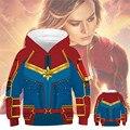 Crianças hoodies de filme casual capitão marvel cosplay carol danvers capitão marvel adolescentes hoodies meninos meninas moletom com capuz