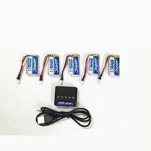 Jjrc H31 Батарея запасных частей 3.7 В 400 мАч 30c оригинальный lipo Батарея для jjrc H33 Батарея 5 шт. с 5in1 Зарядное устройство