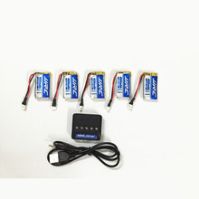 JJRC H31 Battery Spare Parts 3.7V 400 mAh Original Lipo Battery H31-011 JJRC H31 Battery 5PCS With 5in1 Charger(China (Mainland))