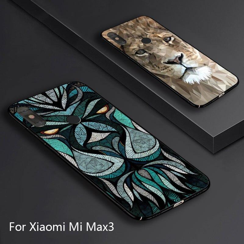 Pour Xiao mi mi Max3 cas, 3D sur mesure Creative personnalité Dur cas de couverture arrière pour Xiao mi mi max 3