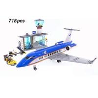 Sıcak şehir sahne havalimanı Yolcu terminali yapı blok rakamlar Komut kulesi kamyon tuğla 60104 eğitici oyuncaklar çocuklar için hediye