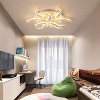 LED Nordic Iron Acrylic Fish LED Ceiling Lights Bedroom room decorative lighting For Foyer remote dimming|Ceiling Lights|   -