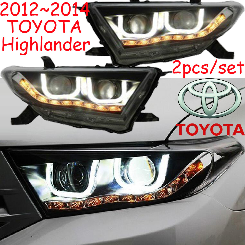 car-styling,highlander headlight,2012~2014,Free ship!2pcs,highlander fog light;car-covers,chrome,highlander head light car styling highlander daytime light 2012 2014 free ship led chrome 2pcs set highlander fog light car covers highlander