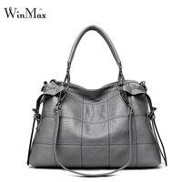 Winmax 2017 mulheres da moda bolsas de marca famosa designer sacos wristlet z pu mulheres totes saco xadrez do vintage bolsa de ombro com alça