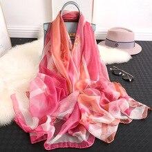 2019 new silk scarf women summer shawl wrap big size beach cover up for lady pashmina thin hijab femme winter scarves bandana