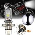 12 w bombilla led lámpara de luz h4 de la motocicleta hi/lo haz faros faro lámpara frontal para honda para kawasaki 6000-6500 k 1200lm