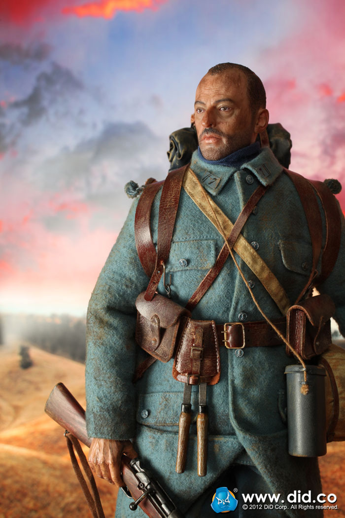 DID1/6 scale doll Jean Reno French soldiers Special Edition,Super flexible Figure model toy,WWI Soldier Finished Product