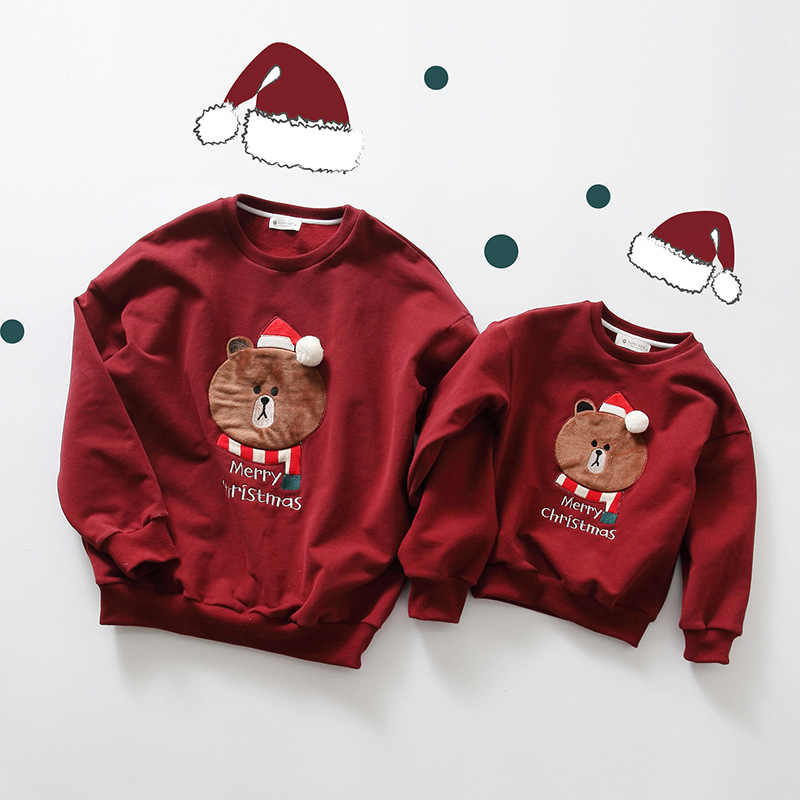 Trajes de Navidad para niñas, ropa para parejas, suéteres a juego, pijamas,  ropa para mamá y yo, camisas de oso de bebé, como conjunto de papá