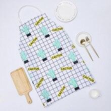 1 Ps シックなサボテンパターンユニセックス調理ダイニングキッチン Bbq レストランクリーニング防水ウェイトレス家事エプロンドロップシッピング