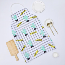 1 Ps Chic Cactus Pattern Unisex Cooking Dining Kitchen BBQ Restaurant Cleaning Waterproof Waitress Housework Aprons Dropshipping