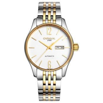 2016 New Men Automatic Watch Carnival Simple Business Mechanical Watches Casual Steel Strap 10ATM Diver Wristwatch 8612G