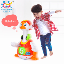 Intelligent Electronic Baby Toys Walking Dancing Swing Goose Children Friend Partner Toy with Hip-hopoy Music Light Huile Toys