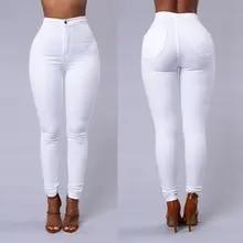 NORMOV Aptidão Mulheres Leggings Brancas calças de Cintura Alta Elástico Push Up Com Bolsos Botão Leggin De Algodão Skinny Leggings Plus Size
