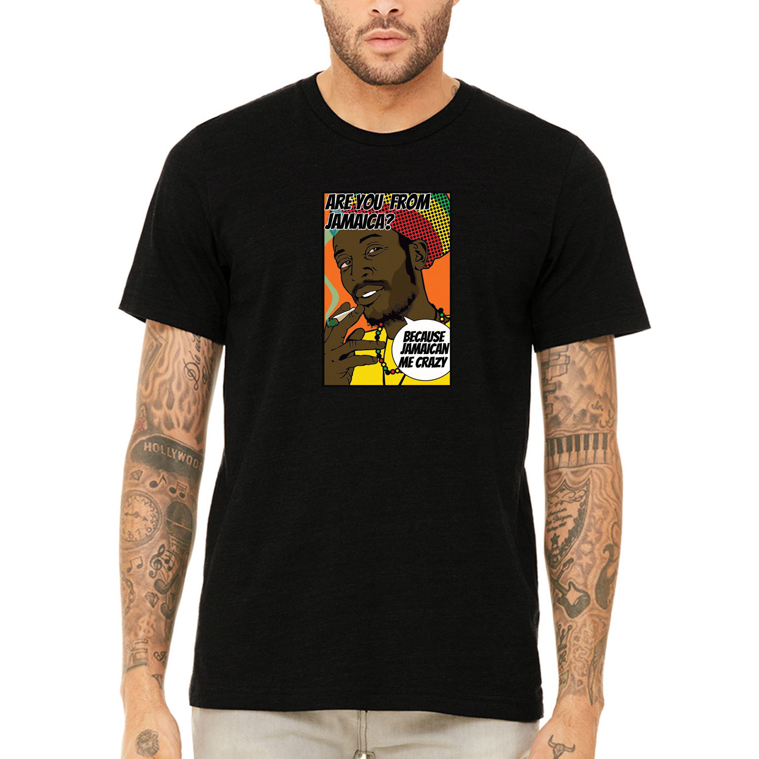 Gildan Misky & Stone Are You From Jamaica? Funny Pick Up Line Tee