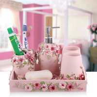Five pieces set of bathroom wash set fashion bathroom set bathroom supplies shukoubei pallet