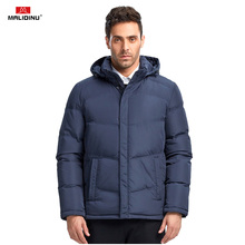 MALIDINU 2019 Duck Down Jacket Men Winter Coat Brand Warm Mens Jackets Detachable Hood Parka Plus Size Coats