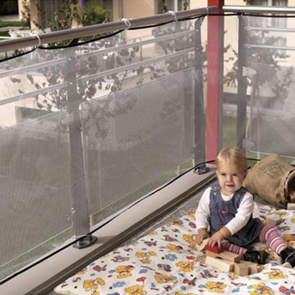 Children Thickening Fencing Protect Nets Climbing Balcony Stairway Child Safety Netting Kid Net Protection Mesh White/Black