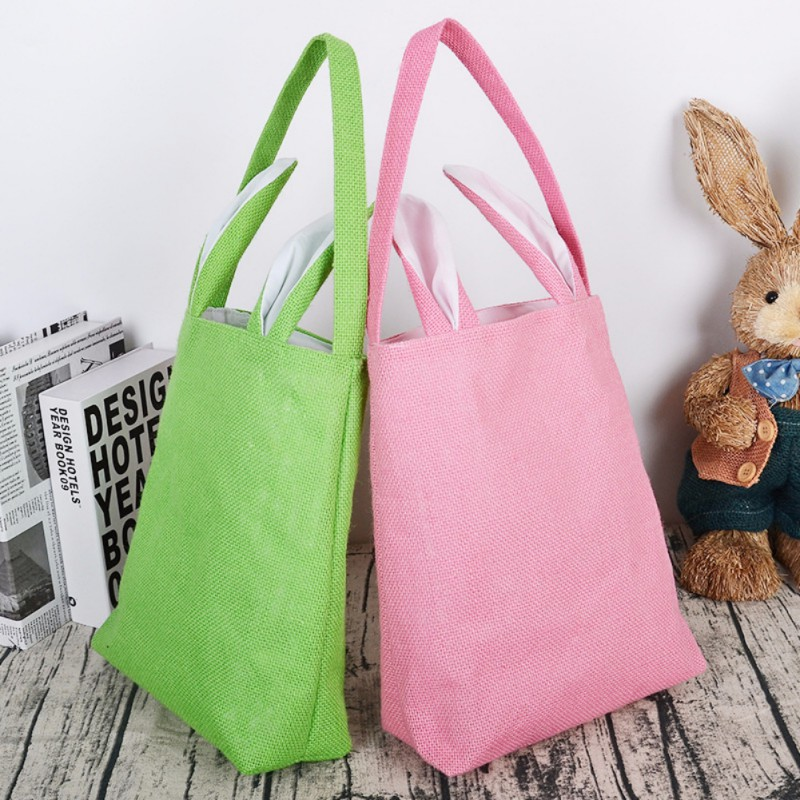 Easter Decorations For Home Bunny Ear Gift Bags Funny Cute Storage bags Rabbit Birthday Party Supplies