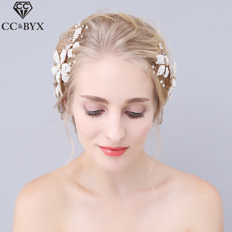 CC Jewelry Hair Comb Hair Ornaments Bridal Crown Bride Wedding Hair Accessories For Women Party Handmade Flower Headwear 0901 кольцо 1979 11 r