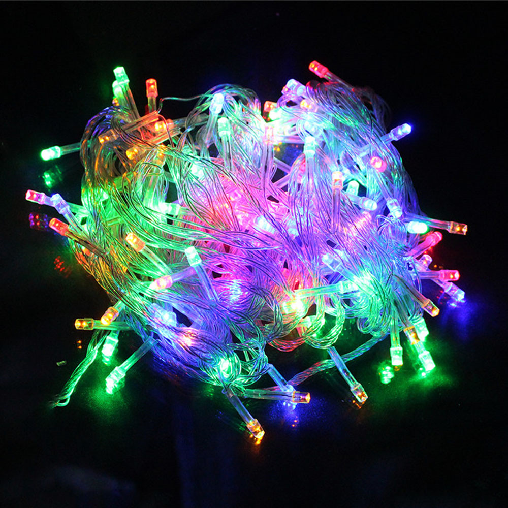 Online Buy Wholesale 10 bulb christmas lights from China 10 bulb ...:10 meter Led string light 100led waterproof colorful holiday led lighting  AC110V or AC220V outdoor decoration,Lighting
