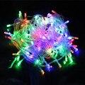 10 м свет шнура Сид новогодние гирлянды 100led водонепроницаемый красочный праздник светодиодное освещение AC110V или AC220V открытый рождественские украшения свет