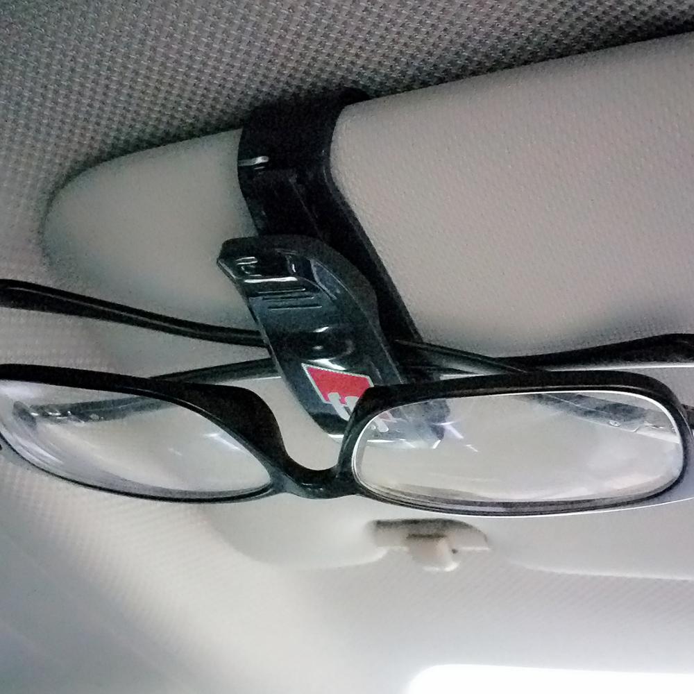 Car visor sticker designs - Sline S Line Design Car Glasses Holder Case Muiti Purpose Cards Clip Sun Visor Position