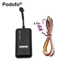 Original Podofo GT02 Mini Car GPS Tracker tk110 Realtime GSM GPRS GPS Locator Vehicle Tracking Device Google Link Real Time