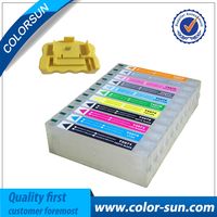 Novos cartuchos de tinta recarregáveis para epson pro 7900 9900 7910 9910 para cartucho T5961-T5964 com chips arco com um resetter