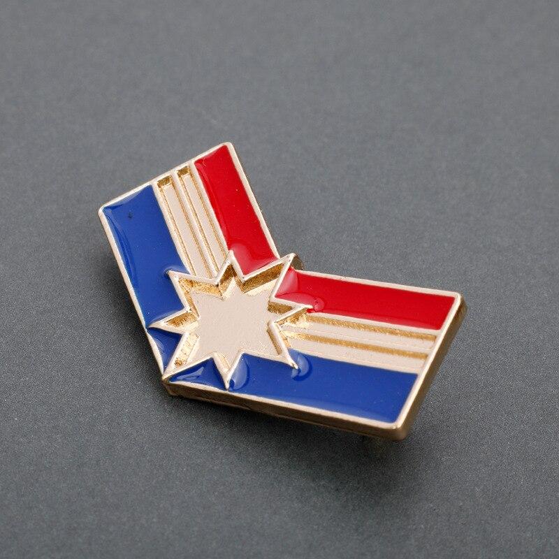 Captain Marvel Carol Danvers Badge Cosplay Prop Metal Bage