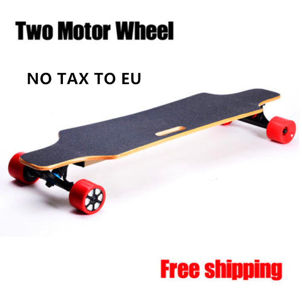 Powerful dual Brushless Direct Current motor electric long skateboard
