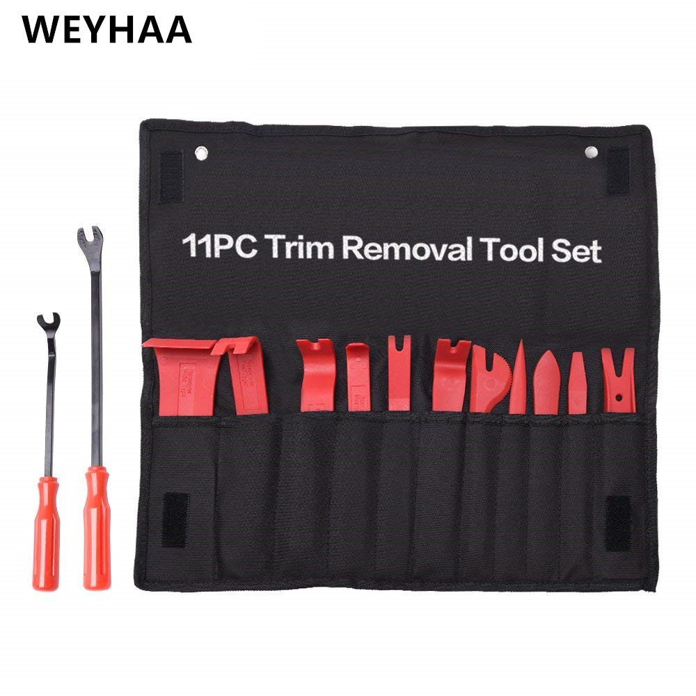 WEYHAA Auto Trim Removal Tool Set  Car Auto Radio Audio Repair Kit Door Dash Trim Pry Clip Stereo Panel Installer