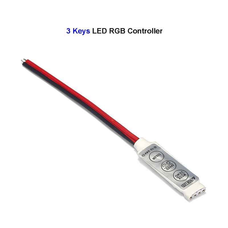 Mini 3 klawisze kontroler led rgb DC 12V 24V przełącznik led ze ściemniaczem dla 3528 5050 5630 SMD listwy rgb led