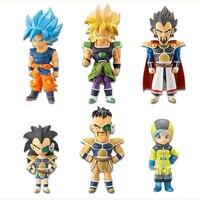 100% Original BANDAI Battle VS Gashapon Toy Figure 7Pcs Adverge 6 Dragon Ball Super Ultra Instinct Goku Jiren From Model