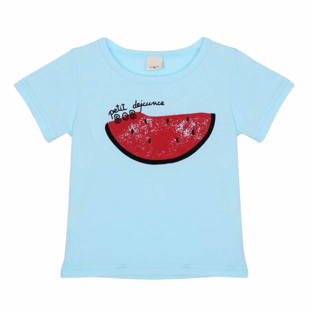 4 Style Pineapple Beard Watermelon Smile Clothing Boys T Shirt Cotton Long-sleeved Shirt Girl Kids T-shirts Top Children Clothes