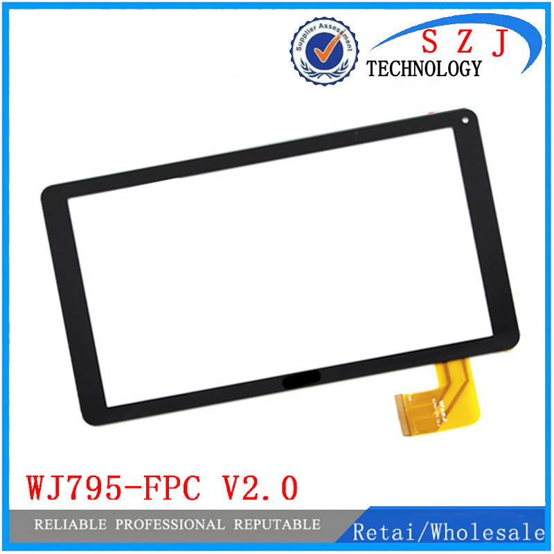 New 10.1'' inch touch screen digitizer WJ795-FPC V2.0 V3.0 Touch Panel Digitizer Glass Sensor Replacement Free Shipping new white black 10 1 inch tablet qsd e c100016 02 touch screen digitizer glass touch panel replacement sensor icoo icou10gt