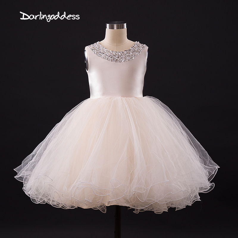 2017   Flower     Girl     dresses   for Weddings Ivory Blue White Little Kids Satin First Communion   Dresses   Glitz Ball Gown Pageant   Dress