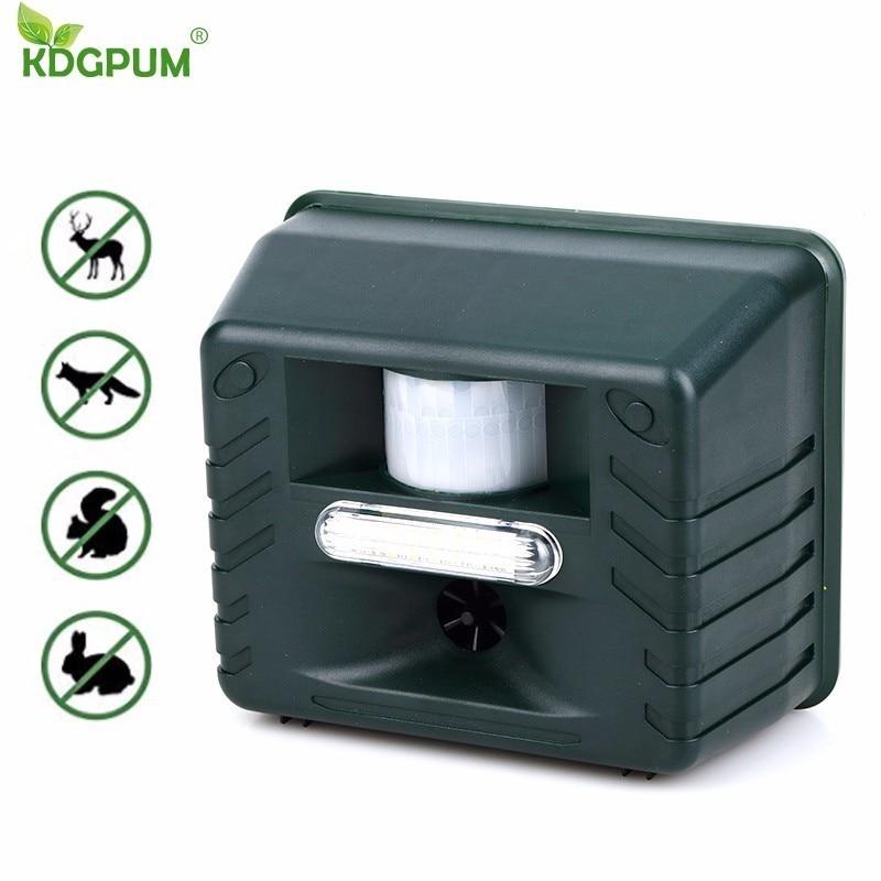 Ultrasonic Animal Repeller Outdoor Repellents Waterproof Pest Repeller Sensor Sonic Alarm Animal Deterrent Intelligent Remote