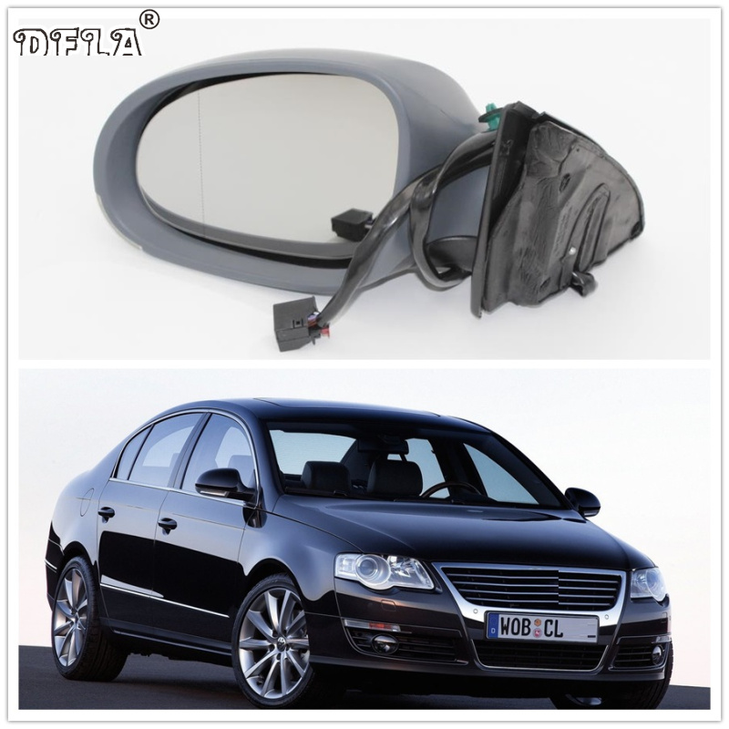 For VW Passat B6 2006 2007 2008 2009 2010 2011 Car-styling Heated Electric Wing Side Rear Mirror Left Driver Side