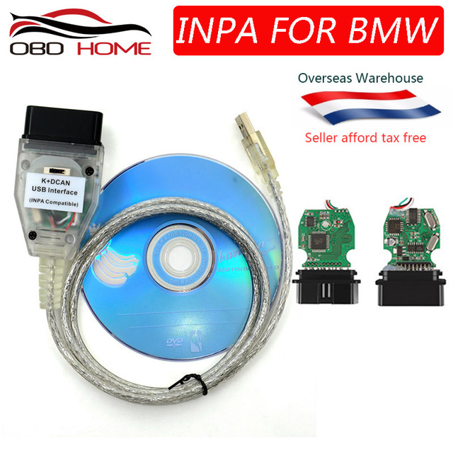 US $5 0 |2019 OBD2 For BMW INPA K+CAN K CAN INPA With FT232RL Chip with  Switch for BMW INPA K DCAN USB Interface Cable With 20PIN for BMW-in Car