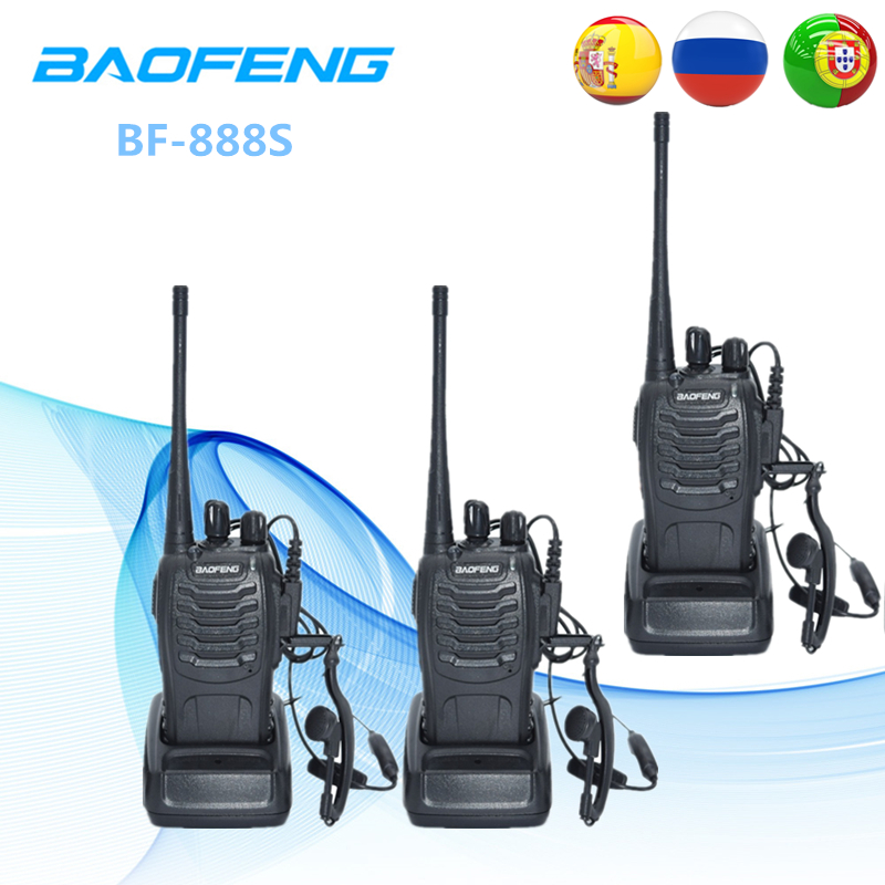3PCS Baofeng BF 888S Two Way Radio BF 888S 6km Walkie Talkie 5W Portable CB Ham