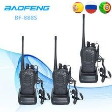 3 шт. Baofeng BF-888S двухстороннее Радио BF 888 S 6 км рация 5 Вт Портативный любительский радиопередатчик портативная ВЧ-радиостанция домофон BF888S