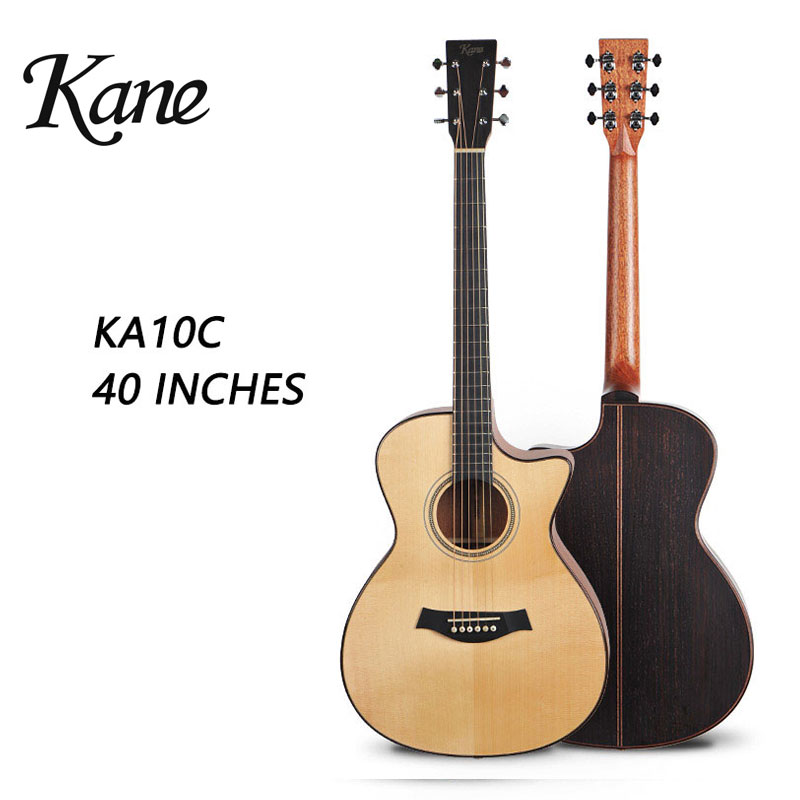 Kane Brand Guitar Acoustic Guitar Cutaway Solid Wood Top Auditorium China 40 Inches Guitarra Adult Student Spruce KA10C high quality solid wood guitar 41 inch spruce wood panel acoustic guitar guitarra free shipping